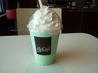 Shamrock Shake Milkshake sold by McDonalds