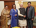 Shatrughan, Poonam and Sonakshi Sinha with PM Modi.jpg