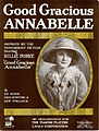 Sheet music cover - GOOD GRACIOUS ANNABELLE (1919).jpg