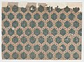 Sheet with overall pattern of hexagonal shapes Met DP886572.jpg