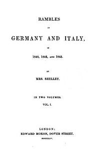 Rambles in Germany and Italy cover