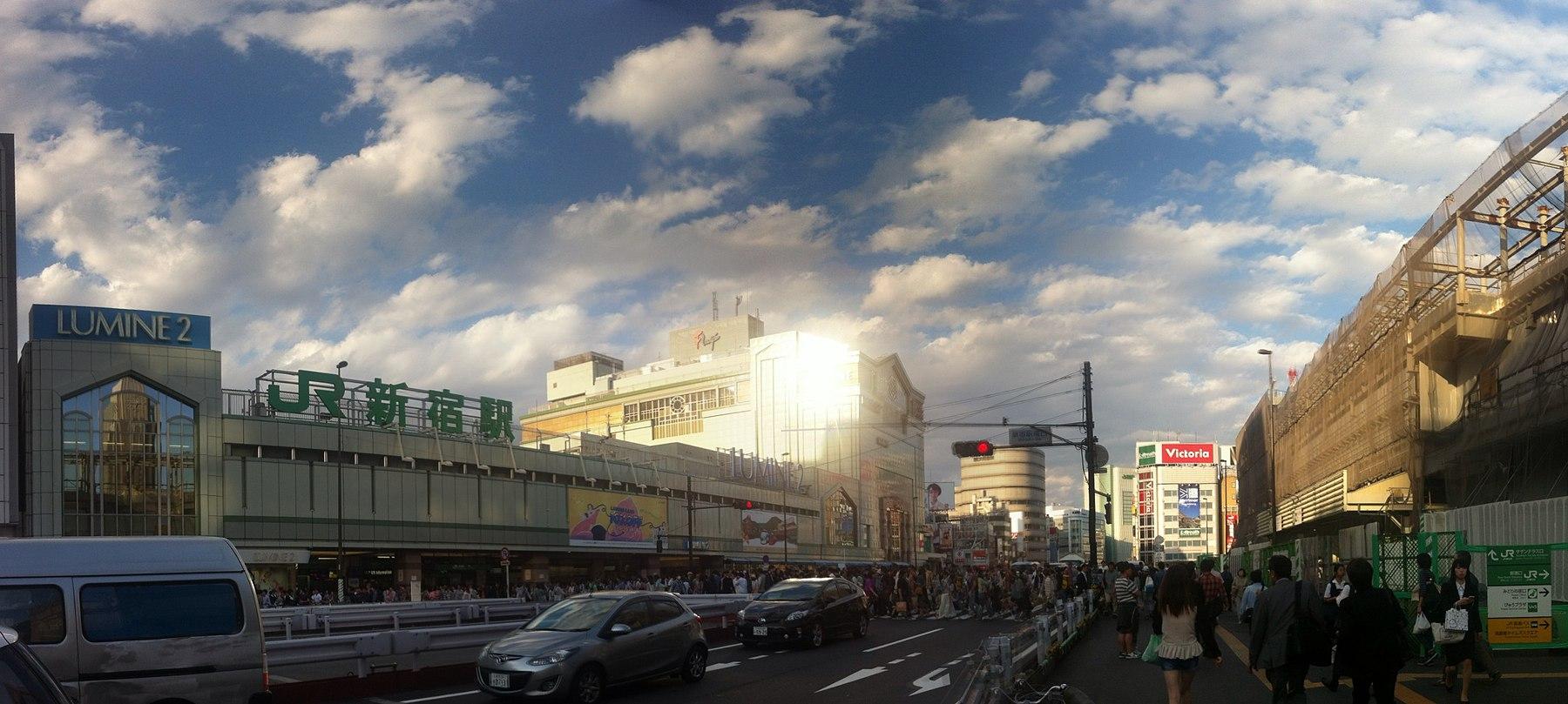 Shinjuku south exit construction may 2014.jpg