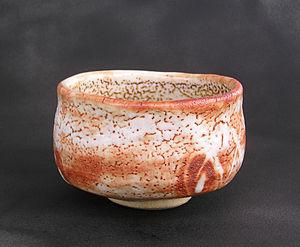 Chawan - Shino ware tea bowl