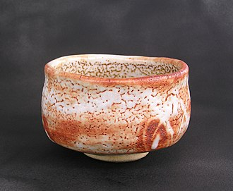 Chawan - Shino ware tea bowl