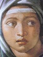 Sibyl of Delphi - Sistine Chapel - closeup
