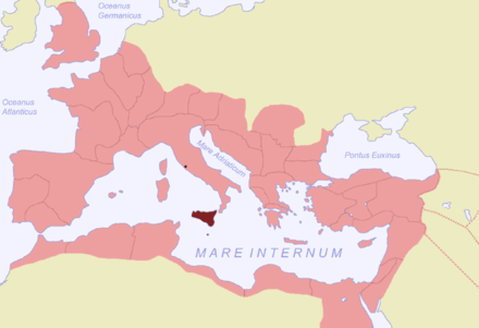 The Sicilian province in the Roman Empire Sicilia SPQR.png