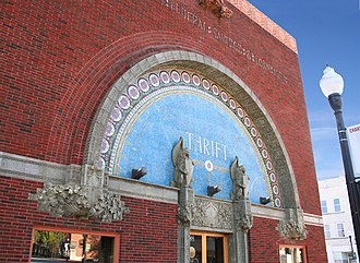 People's Federal Savings and Loan Association - Unusual architecture of the 1918 People's Federal Savings and Loan