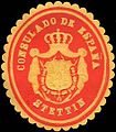 Siegelmarke Consulado de Espana - Stettin W0215611.jpg