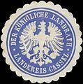 Siegelmarke Der K. Landrath Landkreis Kassel W0391632.jpg