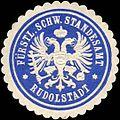 Siegelmarke Fürstlich Schwarzburgische Standesamt Rudolstadt W0211737.jpg