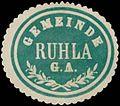 Siegelmarke Gemeinde Ruhla G.A. W0393317.jpg