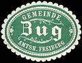 Siegelmarke Gemeinde Zug Amtsh. Freiberg W0314461.jpg