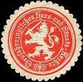 Siegelmarke Grossherzogliches Haus - und Staats - Archiv W0226475.jpg