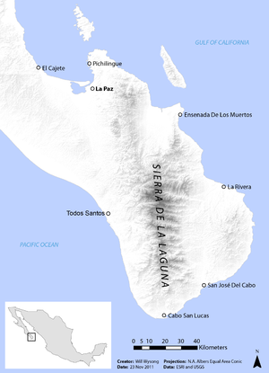 Sierra de la Laguna - Image: Sierra de la Laguna