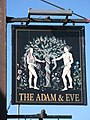 Sign for the Adam and Eve - geograph.org.uk - 1040180.jpg