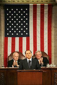1 marzo 2006, Silvio Berlusconi parla innanzi al Congresso degli Stati Uniti riunito in sessione plenaria.