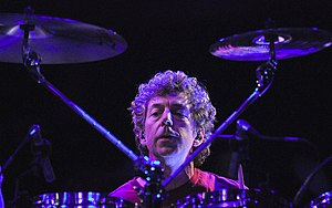 Simon Phillips (drummer) - Phillips playing in PSP in Rome, 2009