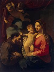 Madonna with Child and St Francis of Assisi