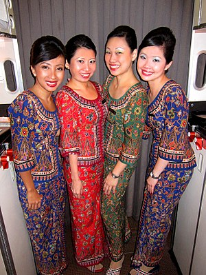 Air hostesses for Singapore Airlines. January ...