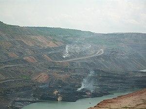 Godavari Valley Coalfield - Singareni opencast coal mines at Manuguru on Godavari Valley Coalfields