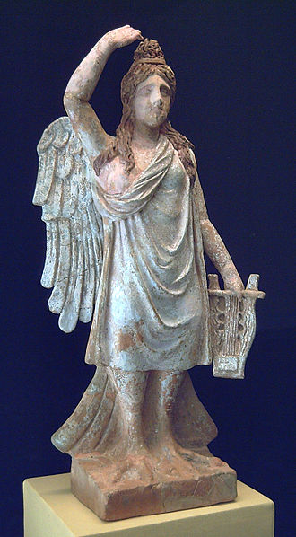 Siren (mythology) - The Siren of Canosa, statuette exposing psychopomp characteristics, late fourth century BC