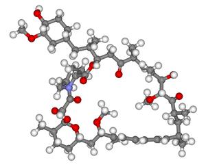 MTOR inhibitors - Ball-and-stick model of sirolimus, the prototype mTOR inhibitor