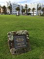 Site of First Building in St Kilda Melbourne Plaque Albert Square July2014 a.JPG