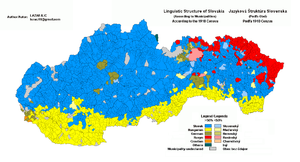 Demographics of Slovakia - Linguistic structure of Slovakia in 1910