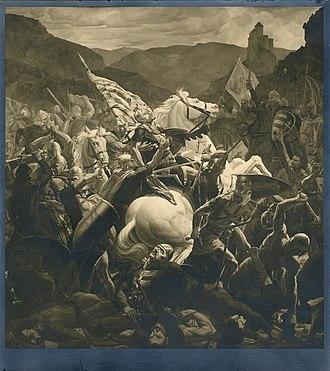 Josip Horvat Međimurec - Image: Smrt Petra Svacica Bitka pod Gvozdom
