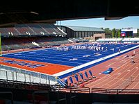 Smurf Turf in Bronco Stadium Idaho