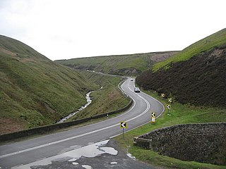 Snake Pass hill pass in the Derbyshire section of the Peak District