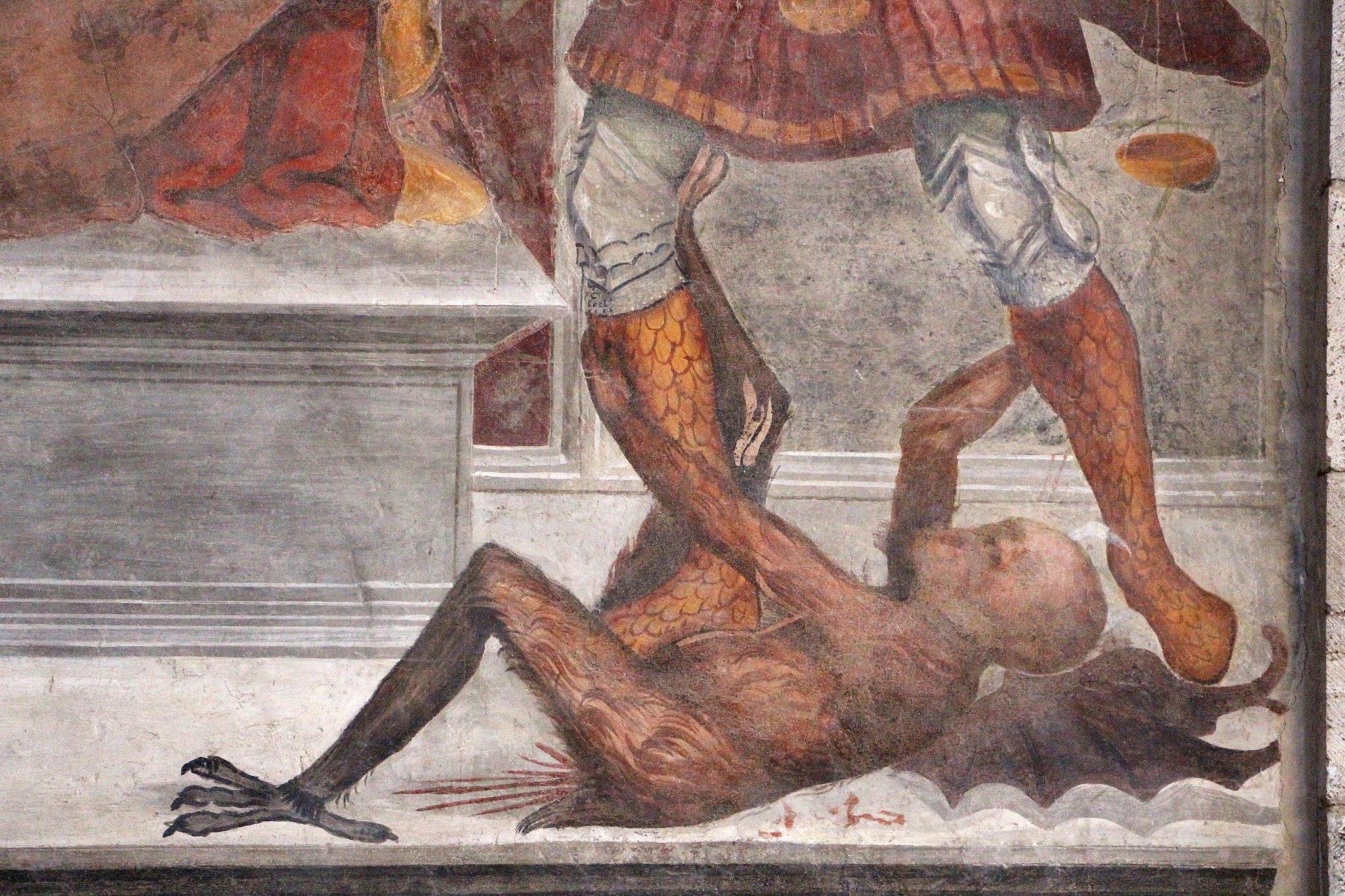 Sodoma, Madonna col Bambino, gli arcangeli michele e Raffaele, e un donatore, 04