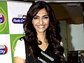 Sonam Kapoor promotes 'I Hate Luv Storys' on Radio City 91.1 FM.jpg
