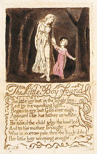 The Little Boy Found - Image: Songs of Innocence, copy B, 1789 (Library of Congress) object 23 The Little Boy Found