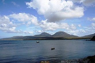 Sound of Islay - Looking across the Sound from Bunnahabhain on Islay towards the Paps of Jura.