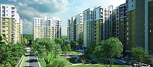 Skyline View of Rajpur Sonarpur from a Residential Project