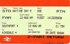 Family and Friends Railcard - Image: Southport Ainsdale 1
