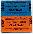 Souvenir Tickets, Museum of British Transport, Clapham c 1965 - Flickr - sludgegulper.jpg