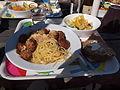 Spaghetti and meatballs at Café Mellsten, Haukilahti.jpg