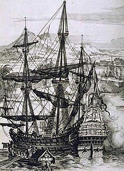 Spanish galleon, the mainstay of transatlantic and transpacific shipping, engraving by Albert Durer Spanish Galleon.jpg
