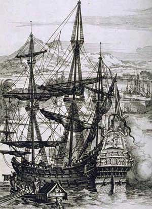 Philippine Revolution - A sketch of a Spanish galleon during Manila-Acapulco Trade.