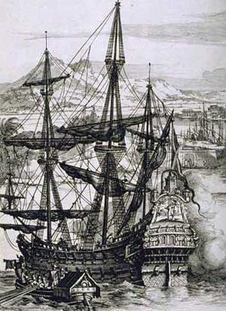 Spanish Navy - A 17th-century Spanish galleon.