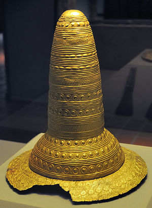 Golden Hat of Schifferstadt - The hat at the Historical Museum of the Palatinate in Speyer