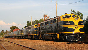 Victorian Railways B class (diesel) - B74 hauling the 70th anniversary Spirit of Progress in November 2007