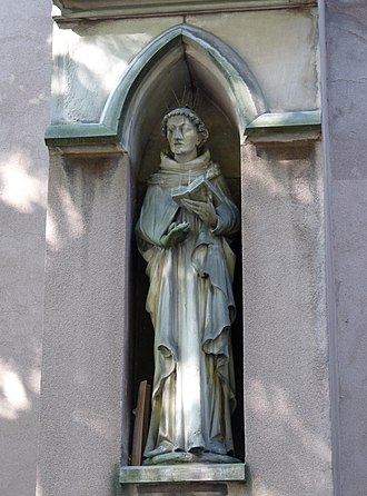 Johannes Tauler - Statue of Johannes Tauler, the Strasbourg Saint-Pierre-le-Jeune Protestant Church.