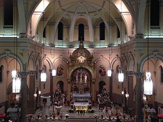 Sharpsburg, Pennsylvania - St. Mary Church altar during the Christmas Season