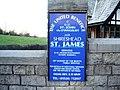 St James' Church, Shireshead, Sign - geograph.org.uk - 615356.jpg