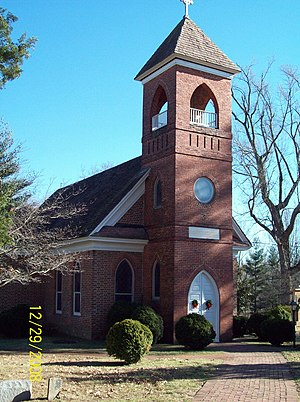 St. Thomas' Church (Upper Marlboro, Maryland) - St. Thomas' Church - Front View, December 2008