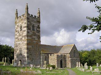 Landewednack - Image: St Wynwallows Church Landewednack
