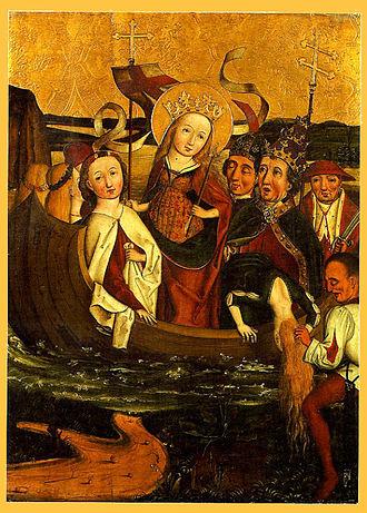 Saint Ursula - The Martyrdom of Saint Ursula (German school, 16th century)